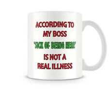 Funny Mug - According To My Boss... - Great Gift/Present Idea