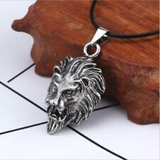 New Fashion Stainless Steel Lion Head Pendant Necklace Men Hip Hop Jewelry Gift