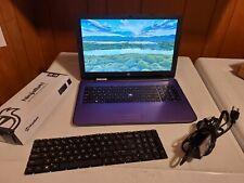 "HP Notebook/Laptop 15-ba009ds, 15.6"", 1TB, AMD Quad-Core E2-7110- PURPLE & More"