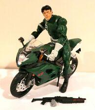 MAISTO/HASBRO MARVEL LEGENDS CUSTOM SWORD AGENT W/WEAPON & CUSTOM MOTORCYCLE