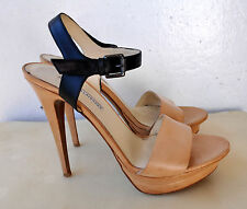 Vera Wang Lavender NINA Platform Sandals Heels Leather Sz 41.5 Italy Sold Out!
