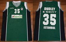 ERWIN DUDLEY GAME USED BASKETBALL JERSEY DARUSSAFAKA NBA EUROLEAGUE