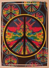 "Tye Dye Peace Sign Bumper Sticker  4""x5 "" Round Decal Dorm Decorative Locker"