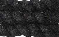 100g Recycled Banana Silk Vegan Yarn black free shipping