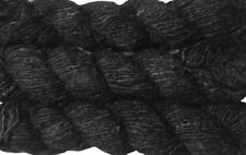 500g Recycled Banana Silk Vegan Yarn black free shipping