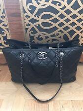 Authentic Beautiful Black Chanel Bag In Caviar Skin