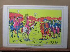 Vintage Black light Poster 1970's Custer's Last Stand Inv#G395