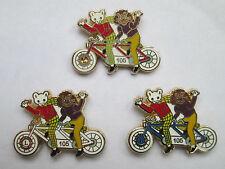 RUPERT CHARITY ENAMEL PIN  BADGE  SET (3)  -  BICYCLE