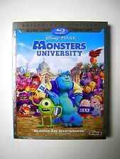 Disney Pixar Monsters University Blu-ray DVD Digital Copy Combo Pack Mike Sulley