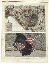 NEAPEL VESUV <- Napoli Vesuvio  BERTUCH 1800 Torre del Grecco Kampanien Italia