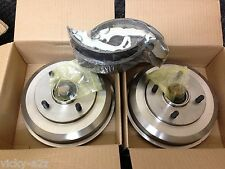 FORD FOCUS MK1HATCHBACK TWO REAR BRAKE DRUMS WITH FITTED BEARINGS + BRAKE SHOES