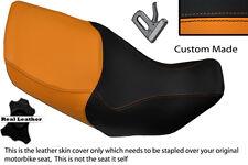 ORANGE & BLACK CUSTOM FITS HONDA XL 1000 V VARADERO 99-07 DUAL SEAT COVER