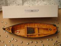 "Wood ROW BOAT Skif Dory CANOE model rowboat skiff aprx 15"" nautical theme wooden"