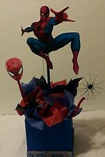 Large Spider Man inspired party centerpiece decoration