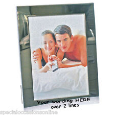 "Personalised Engraved S/Plated  6 x 4"" Photo Frame Godmother Godfather Christmas"