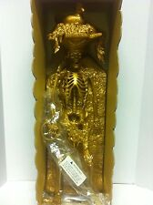 Span Of Sunset Pirates Of The Carribean Golden Bird Head Skeleton Statue - Rare