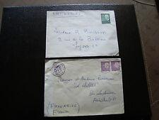 SUEDE - 2 enveloppes 1965 1968 (cy27) sweden