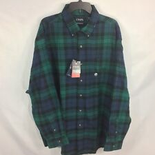 CHAPS - Blue/Green Plaid L/S Performance FLANNEL Soft Shirt LT TALL Mens NEW $60