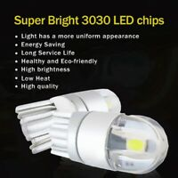 1X(2pcs W5W T10 2 SMD 3030 LED Bulbs Super Bright White For Car Exterior Da 4K5)