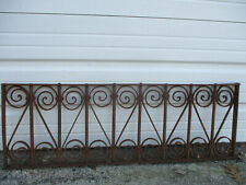 "Large Ornate Vintage/Antique Rusty Ornamental Iron Grate 41 3/4"" Long"