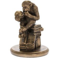 Darwins Ape Philosophising Monkey Ornament Bronze Finish Resin Statue Sculpture