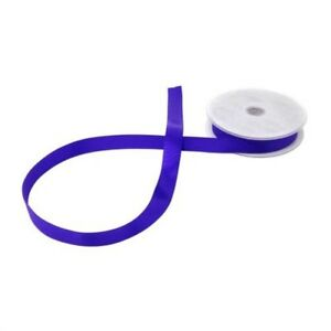 Double Faced Purple Satin 15mm Ribbon 3 Sizes Avaliable