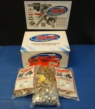 """WOODY'S 144 PACK TRACTION MASTER GOLD DIGGER STUDS  1.325"""" W 1/2 TALL LARGE NUTS"""