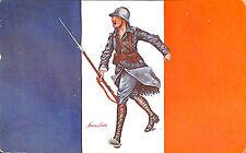 """GUERRE 14/18 WW1 CARTE POSTALE XAVIER SAGER """" LES DRAPEAUX ALLIES """""""
