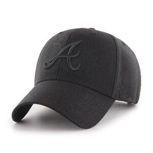 MLB Atlanta Braves Baseball Cap MVP Completely Black 191812967770 Cap