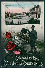 Reggio Emilia città Militari Saluti da Foto cartolina QK0258