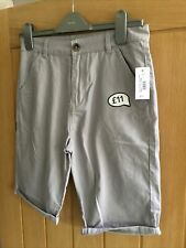 BLUEZOO boys light grey chino shorts AGE 13 YEARS  BNWT