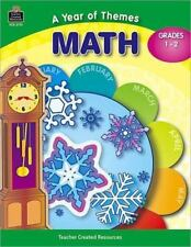 A Year of Themes - Math grades 1-2 paperback monthly games teacher resource home