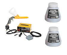 10-30 PSI 120 Volt Powder Coating System Auto Home Shop 2 Free Black Paint Color