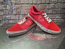 NWOB True Religion Nuno Men's Canvas Shoes Red & White ZGM 19022-01 SIZE 13