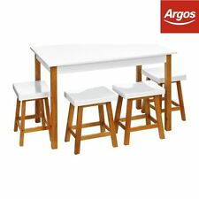 Pine Up to 4 Unbranded Rectangular Table & Chair Sets