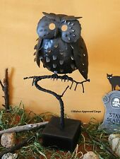 POTTERY BARN PUNCHED METAL OWL VOTIVE HOLDER -NIB- WING IT FOR WISE HOME DÉCOR!