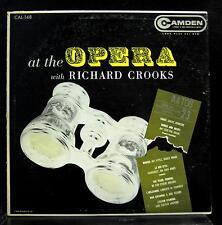 RICHARD CROOKS at the opera with LP Mint- CAL-148 RCA Camden US 1950s Mono RARE