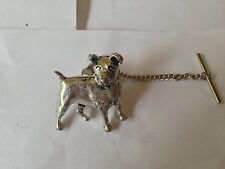D13 Jack Russell Terrier Tie Pin and Chain english pewter handmade in sheffield