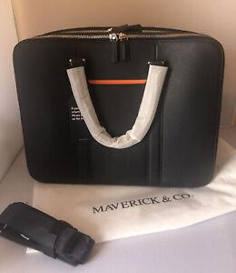 Maverick & Co Navy Manhattan Double Zip Briefcase