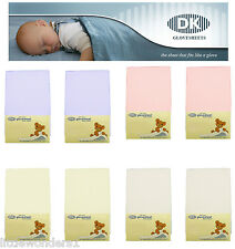 Super Soft Jersey Cotton TOP QUALITY DK Fitted Glove Cot Bed Sheet  140 x 70 cm