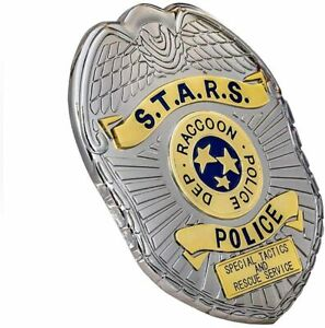 """Resident Evil STARS RPD Raccoon Police in Badge Lapel Badge Collector """"NEW"""""""