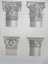 Jean BERAIN motifs COLONNES LOUIS XIV décorations GRAVURE ADAMS MEUBLE XIXéme