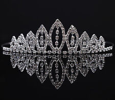 Lovely Kid GIrls Flower Princess Rhinestone Crown Comb Hair Clip Tiara Halloween