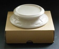 Longaberger Ivory Candle Holder Cheeseball Plate Dish New