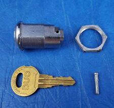 Vintage Seeburg 3W1 / 3W100 Wallbox Lock & Key with Nut & Pin