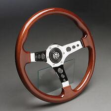 Holzlenkrad Sportlenkrad Chrom 360mm Nabe Mercedes W201 W124 W126 W107 W123 W129