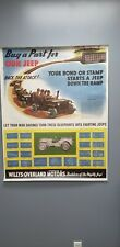WW2 jeep War Bond Poster Willys MB Ford GPW