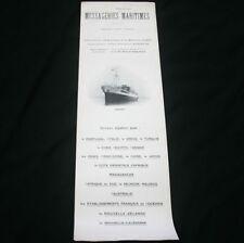 Messageries Maritimes SS ERIDAN Deck Plan