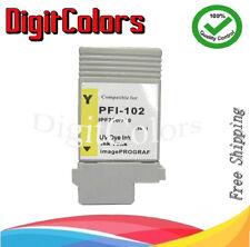 PFI-102 Ink cartridge Fits Canon iPF 500 510 600 605 610 700 710 720 -Yellow