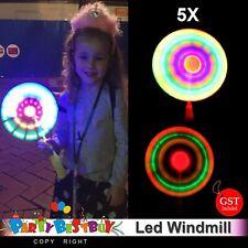 5x LED Flashing Windmill Handheld Fan Spinning Wand Pinwheel Wind Rave Toy Party